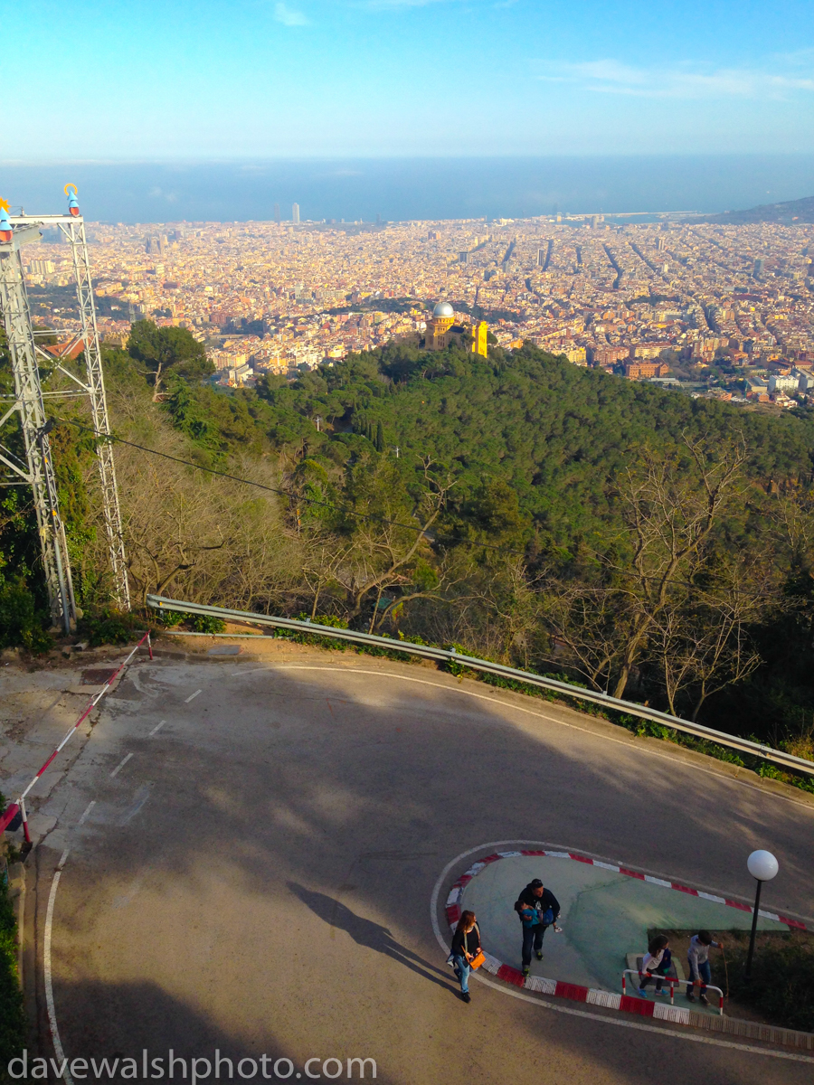 The view from Tibidado, Barcelona